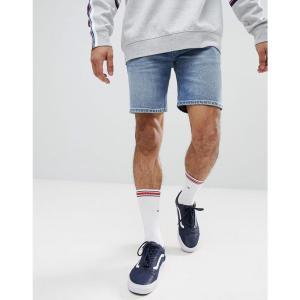 エイソス メンズ ショートパンツ ボトムス・パンツ Denim Shorts In Skinny Mid Wash Mid wash blue|fermart