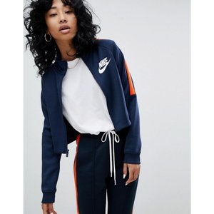 ナイキ Nike レディース ジャージ アウター N98 Polyknit Track Jacket In Blue And Orange Blue|fermart