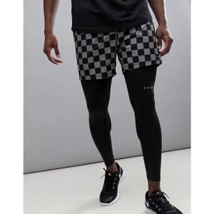 エイソス メンズ ショートパンツ ボトムス・パンツ Shorts With Checkerboard Print In Mid Length Multi|fermart