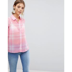 エイソス レディース ブラウス・シャツ トップス Soft Shirt in Sheer Pink Check Check fermart