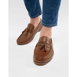 エイソス メンズ ローファー シューズ・靴 DESIGN Tassel Loafers In Tan Leather With Natural Sole fermart