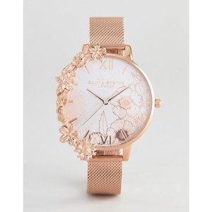 オリビア バートン Olivia Burton メンズ 腕時計 OB16CB13 Case Cuff Mesh Watch In Rose Gold Rose gold|fermart