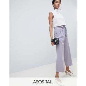 エイソス ASOS Tall レディース ボトムス・パンツ ASOS DESIGN Tall mix & match culotte with tie waist Soft grey|fermart