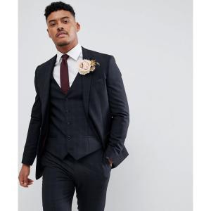 リバーアイランド River Island メンズ スーツ・ジャケット アウター wedding skinny fit check suit jacket in navy ネイビー fermart