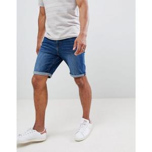 マンゴ Mango メンズ ショートパンツ デニム ボトムス・パンツ man denim shorts in dark blue|fermart