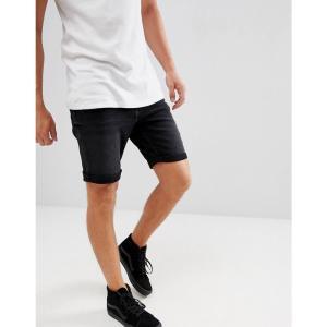 マンゴ Mango メンズ ショートパンツ デニム ボトムス・パンツ man denim shorts in black|fermart