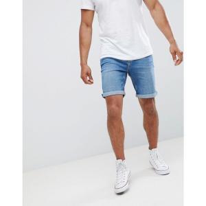 マンゴ Mango メンズ ショートパンツ デニム ボトムス・パンツ man denim shorts in mid blue|fermart