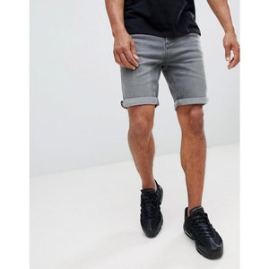 マンゴ Mango メンズ ショートパンツ デニム ボトムス・パンツ man denim shorts in grey|fermart