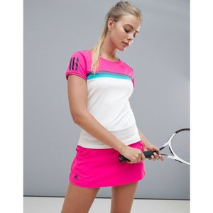 アディダス Adidas レディース トップス テニス adidas Tennis Short Sleeve Colourblock Tee Shock pink|fermart