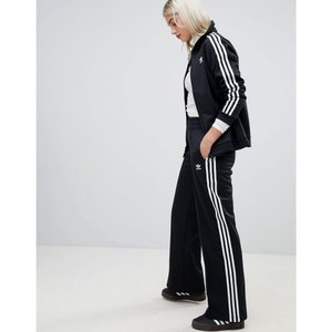 アディダス adidas Originals レディース スウェット・ジャージ ボトムス・パンツ Adidas Originals Three Stripe Track Pant In Black Black|fermart