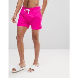 トミー ヒルフィガー メンズ 海パン 水着・ビーチウェア Short Drawstring Flag Logo Swim Shorts in Bright Pink Bright pink|fermart