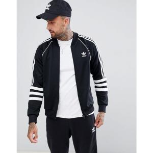アディダス メンズ ジャージ アウター adidas Originals Authentic Superstar Track Jacket In Black DJ2856 Black|fermart