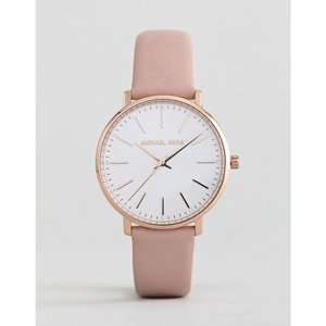 マイケル コース Michael Kors レディース 腕時計 MK2741 Pyper Leather Watch In Pink 38mm ピンク|fermart