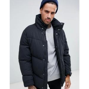 エイソス ASOS DESIGN メンズ ダウン・中綿ジャケット アウター oversized puffer jacket in black Black|fermart