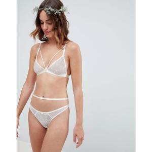 エイソス ASOS DESIGN レディース ブラジャーのみ インナー・下着 Bridal Embroidered Triangle Bra Ivory|fermart