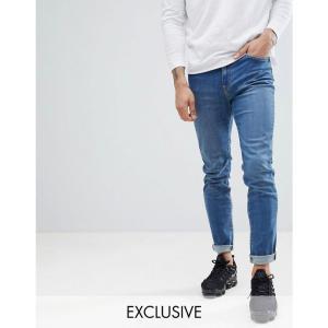 ブルックリン サプライ メンズ ジーンズ・デニム ボトムス・パンツ Brooklyn Supply Co Contrast Mid Wash Skinny Dumbo Jeans Mid wash /blue|fermart