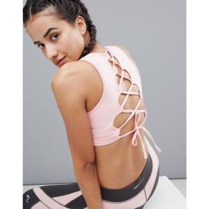 オンリー プレイ レディース トップス ヨガ・ピラティス Only Play Lace Up Yoga Bra Pink|fermart