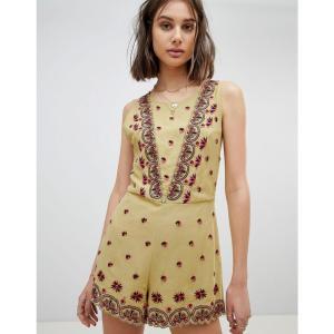 フリーピープル レディース オールインワン ワンピース・ドレス Embroidered Playsuit Moss|fermart