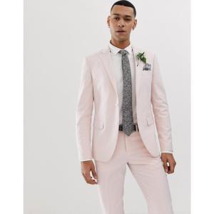 リンドバーグ Lindbergh メンズ スーツ・ジャケット アウター wedding suit jacket in light pink ダスティピンク fermart