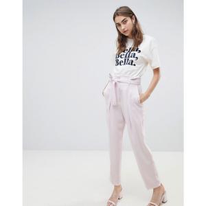マンゴ レディース ボトムス・パンツ Mango wide tapered tailored trouser in lilac Lilac|fermart