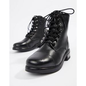 ルールロンドン Rule London レディース シューズ・靴 ハイキング・登山 Leather Hiker Boot Black leather|fermart