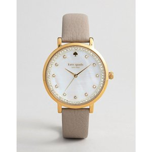 ケイト スペード レディース 腕時計 Kate Spade Monterey Leather Watch Grey|fermart