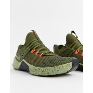ナイキ Nike Training メンズ スニーカー シューズ・靴 Metcon free trainers in khaki ah8141-342 Green|fermart