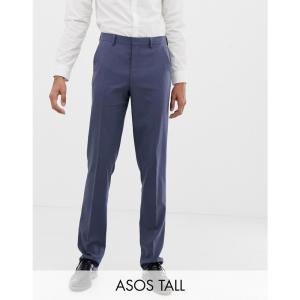 エイソス ASOS DESIGN メンズ スラックス ボトムス・パンツ Tall slim suit trousers in slate blue ブルー|fermart