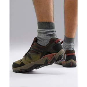 メレル Merrell メンズ シューズ・靴 ハイキング・登山 All Out Blaze 2 hiking trainers in olive Dark olive|fermart