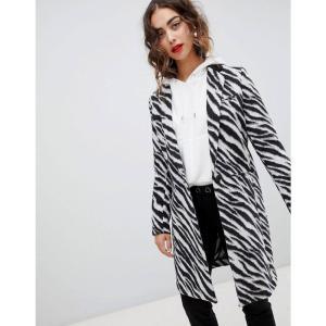 マンゴ Mango レディース コート アウター zebra print coat Multi|fermart
