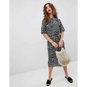 マンゴ Mango レディース ワンピース ワンピース・ドレス zebra print midi dress Zebra print|fermart
