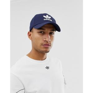 アディダス adidas Originals メンズ キャップ 帽子 Trefoil Cap in navy ネイビー|fermart