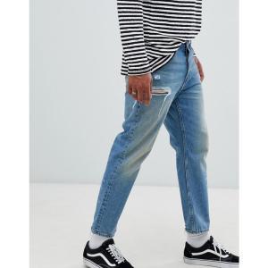 チープマンデー Cheap Monday メンズ ジーンズ・デニム ボトムス・パンツ 90s Fit Jeans In Blue Decay|fermart