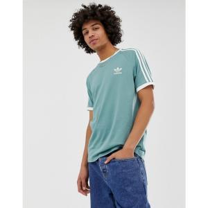 アディダス adidas Originals メンズ Tシャツ トップス 3 Stripe T-Shirt Green Green|fermart