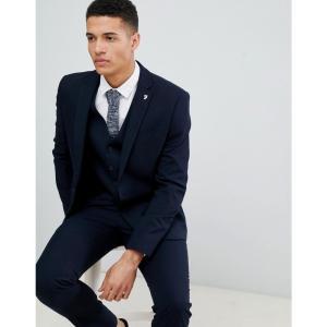ファラー Farah Smart メンズ スーツ・ジャケット アウター Farah Hampton Hopsack slim fit suit jacket トゥルーネイビー fermart