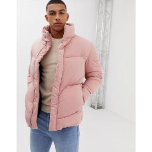 エイソス ASOS DESIGN メンズ ダウン・中綿ジャケット アウター oversized puffer jacket in pink Pink|fermart