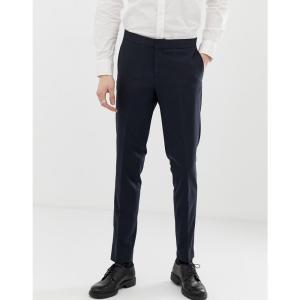 リンドバーグ Lindbergh メンズ スラックス ボトムス・パンツ suit trousers in navy ネイビー|fermart