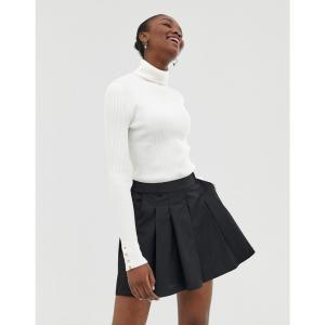 エイソス ASOS DESIGN レディース ボトムス・パンツ テニス tennis skort in technical fabric Black|fermart