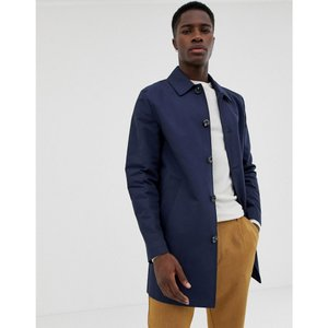 エイソス ASOS DESIGN メンズ トレンチコート アウター shower resistant single breasted trench in navy Navy|fermart