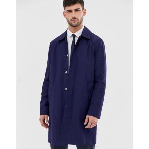 エイソス ASOS DESIGN メンズ トレンチコート アウター shower resistant trench coat in navy ネイビー|fermart