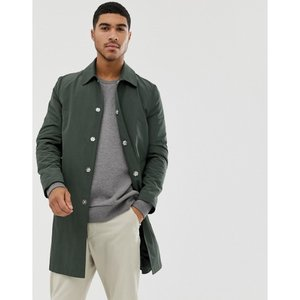 エイソス ASOS DESIGN メンズ トレンチコート アウター shower resistant trench coat in green Green|fermart