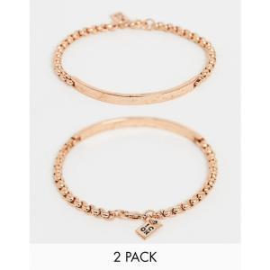 e2c9ec6c32eb アイコン Icon Brand メンズ ブレスレット ジュエリー・アクセサリー rose gold beaded bracelets in 2  pack Rose gold