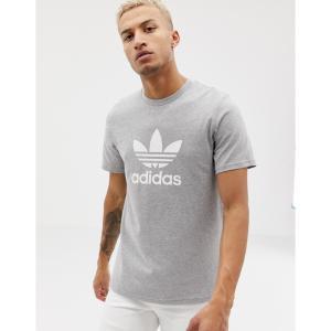 アディダス adidas Originals メンズ Tシャツ トップス Trefoil T-Shirt in grey グレー|fermart
