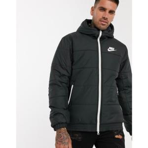 ナイキ Nike メンズ ダウン・中綿ジャケット アウター logo puffer jacket in black ブラック|fermart