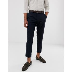 エイソス ASOS DESIGN メンズ クロップド ボトムス・パンツ skinny cropped smart trousers in navy ネイビー|fermart