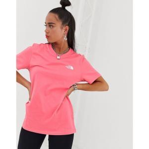 ザ ノースフェイス The North Face レディース Tシャツ トップス Simple Dome t-shirt in coral Calypso coral fermart