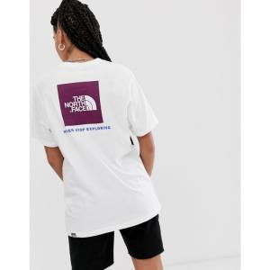 ザ ノースフェイス The North Face レディース Tシャツ トップス Red Box t-shirt in white/purple Premiere purple fermart