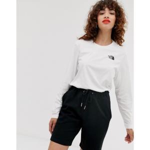 ザ ノースフェイス The North Face レディース 長袖Tシャツ トップス Easy long sleeve t-shirt in white Tnf white fermart