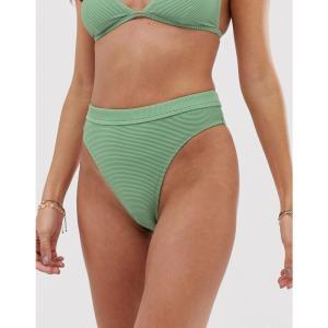 リズム Rhythm レディース ボトムのみ 水着・ビーチウェア Palm Springs Xanadu bikini bottom in textured khaki カーキ fermart