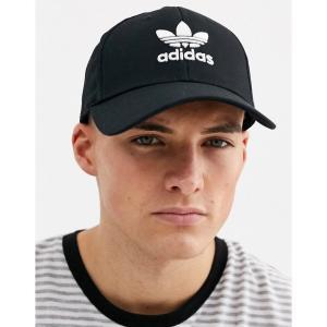 アディダス adidas Originals メンズ キャップ 帽子 logo cap in black ブラック|fermart